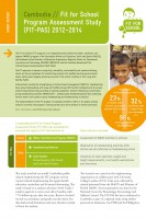 Click to Download 'Fit for School Program Assessment Study Short Report Cambodia'