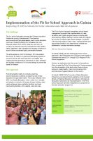 Click to Download 'Fact Sheet Fit for School Guinea'