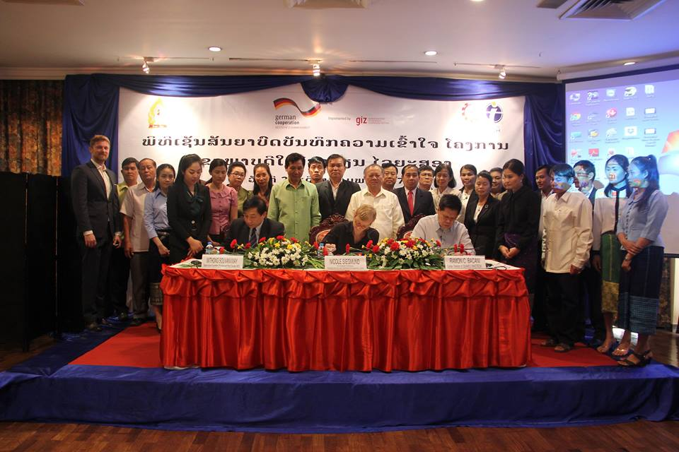 Ministry of Education of Lao PDR signs MoU with SEAMEO INNOTECH and GIZ on scaling up the Fit for School Programme