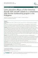 Click to Download 'Caries Preventive Efficacy of Silver Diammine Fluoride (SDF) and ART Sealants in a School-Based Daily Fluoride Toothbrushing Program in the Philippines'